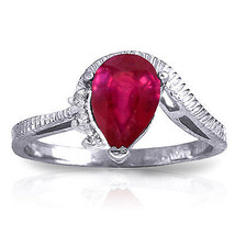1.52 CTW Platinum Plated 925 Sterling Silver Azur Ruby Diamond Ring - $89.42