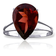 5 CTW Platinum Plated 925 Sterling Silver Sensuality Garnet Ring - $77.79