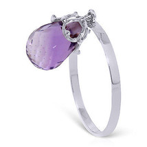 3 CTW Platinum Plated 925 Sterling Silver Ring w/ Purple Amethyst - $79.95