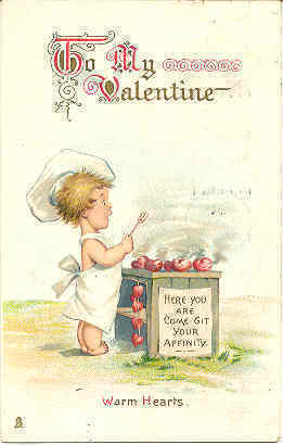 Primary image for Warm Hearts Vintage 1913 Valentine Post Card