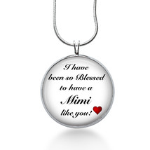 Blessed Mimi Necklace - Quote Jewelry - Pendant - $18.32