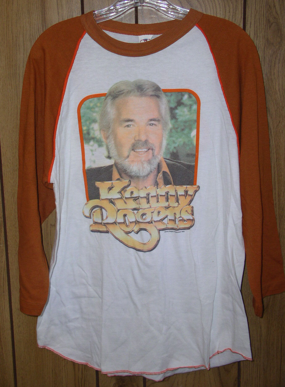 Primary image for Kenny Rogers Concert Jersey Tour T Shirt Vintage 1983