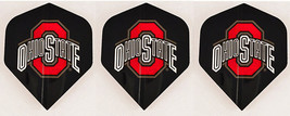 OHIO STATE NCAA Standard Dart Flights 1 set of 3 Flights - $3.95