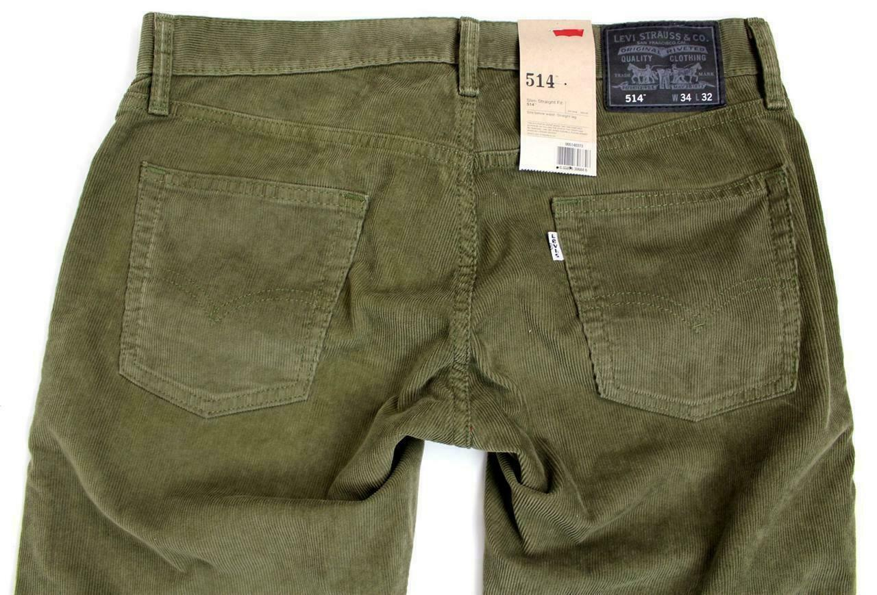 Levi's Strauss 514 Men's Original Slim Fit Straight Leg Jeans Pants 514-0373