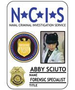 1 NAME BADGE HALLOWEEN COSTUME ABBY SCIUTO FORENSIC AGENT NCIS MAGNETIC ... - $15.83