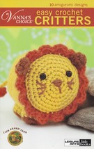 Easy Crochet Critters Leisure Arts Toy Animal Doll Crochet Pattern Booklet 75266 - $4.95