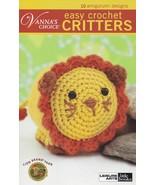 Easy Crochet Critters Leisure Arts Toy Animal Doll Crochet Pattern Bookl... - $4.95