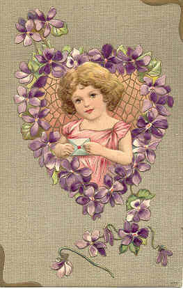 Primary image for Violets To My Valentine Vintage Post Card