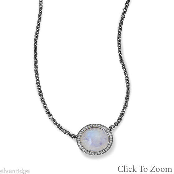 Midnight Collection Necklace With Gray Diamonds Sterling Silver