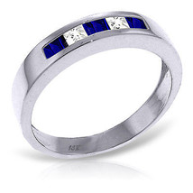 Platinum Plated 925 Sterling Silver Rings w/ Natural Sapphires & Rose Topaz - $57.96