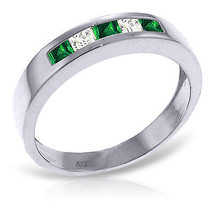 Platinum Plated 925 Sterling Silver Rings w/ Natural Emeralds & Rose Topaz - $72.45