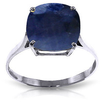 4.83 ct Platinum Plated 925 Sterling Silver Ring Natural Cushion Sapphire - $113.34
