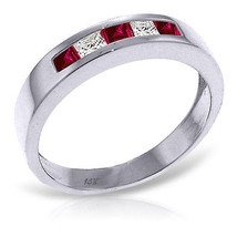 Platinum Plated 925 Sterling Silver Rings w/ Natural Ruby & Rose Topaz - $79.50