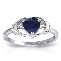 1.01 CTW Platinum Plated 925 Sterling Silver Glory Sapphire Diamond Ring - $77.63