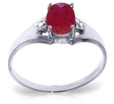 1.26 ct Platinum Plated 925 Sterling Silver Brilliance Ruby Diamond Ring - $79.95
