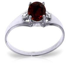 0.76 CTW Platinum Plated 925 Sterling Silver Brilliance Garnet Diamond Ring - $79.50