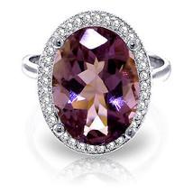 5.28 ct Platinum Plated 925 Sterling Silver Loren Amethyst Diamond Ring - $151.38
