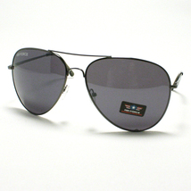 AIR FORCE Aviator Sunglasses Classic Style Metal Frame GUN METAL Black Lens - $9.26