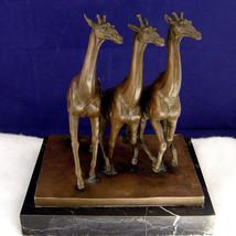 Bronze Sculpture ~ THREE GIRAFFES, Antoine-Louis Barye ~ Free Shipping &... - $154.28