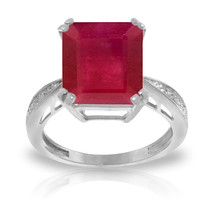 7.27 ct Platinum Plated 925 Sterling Silver Ring Natural Diamond Ruby - $189.80