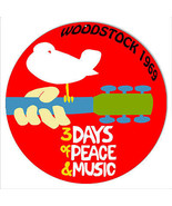 Woodstock 1969 Peace And Music Nostalgic Reproduction Metal Sign - $23.76