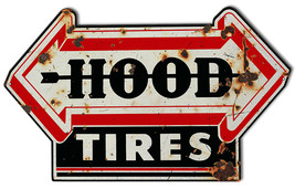 Aged Hood Tires Laser Cut Out Garage Shop Reproduction Metal Sign - $59.40