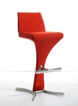 Modrest Ascella Modern Orange Fabric Bar Stool - $319.00