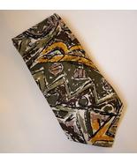 Carlo Palazzi Green Purple Gold Neck Tie 100% Italian Silk Mens Abstract... - $38.00