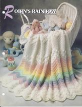 Robin's Rainbow Afghan Crochet Pattern~Annie's Quilt & Afghan Club - $12.99