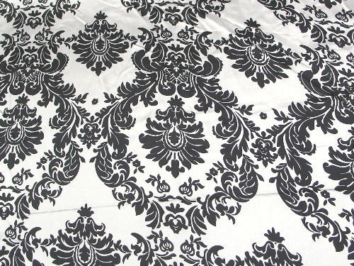 Damask Satin Black White Pocket Square Hanky Wedding Party Groom Groomsmen Child