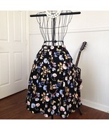 Cotton Floral-Patterned A-Line Skirt Small - $7.50