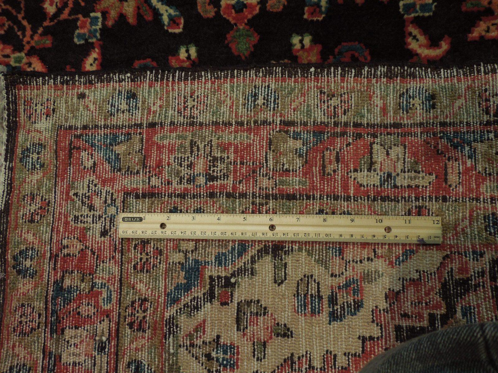 Tribal Wide Gallery Runner Persian Genuine Handmade 4x10 Black Sarouk Wool Rug image 8