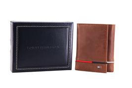 Tommy Hilfiger Men's Leather RFID Extra Capacity Trifold Wallet 31TL110044 image 12