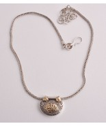 Handcrafted Azza Fahmy filigree sterling silver/ 18k Gold Arabic Necklace - $445.50