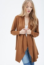 Collarless Drapped Faux Suede Jacket  Truly Beautiful -  Size SMALL - New - $20.00