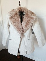 Faux Fur Tweed Coat  Truly Beautiful -  Size SMALL - New - $50.00