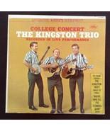 College Concert The Kingston Trio Capitol LP Records Vinyl Album ST1658 - £20.07 GBP
