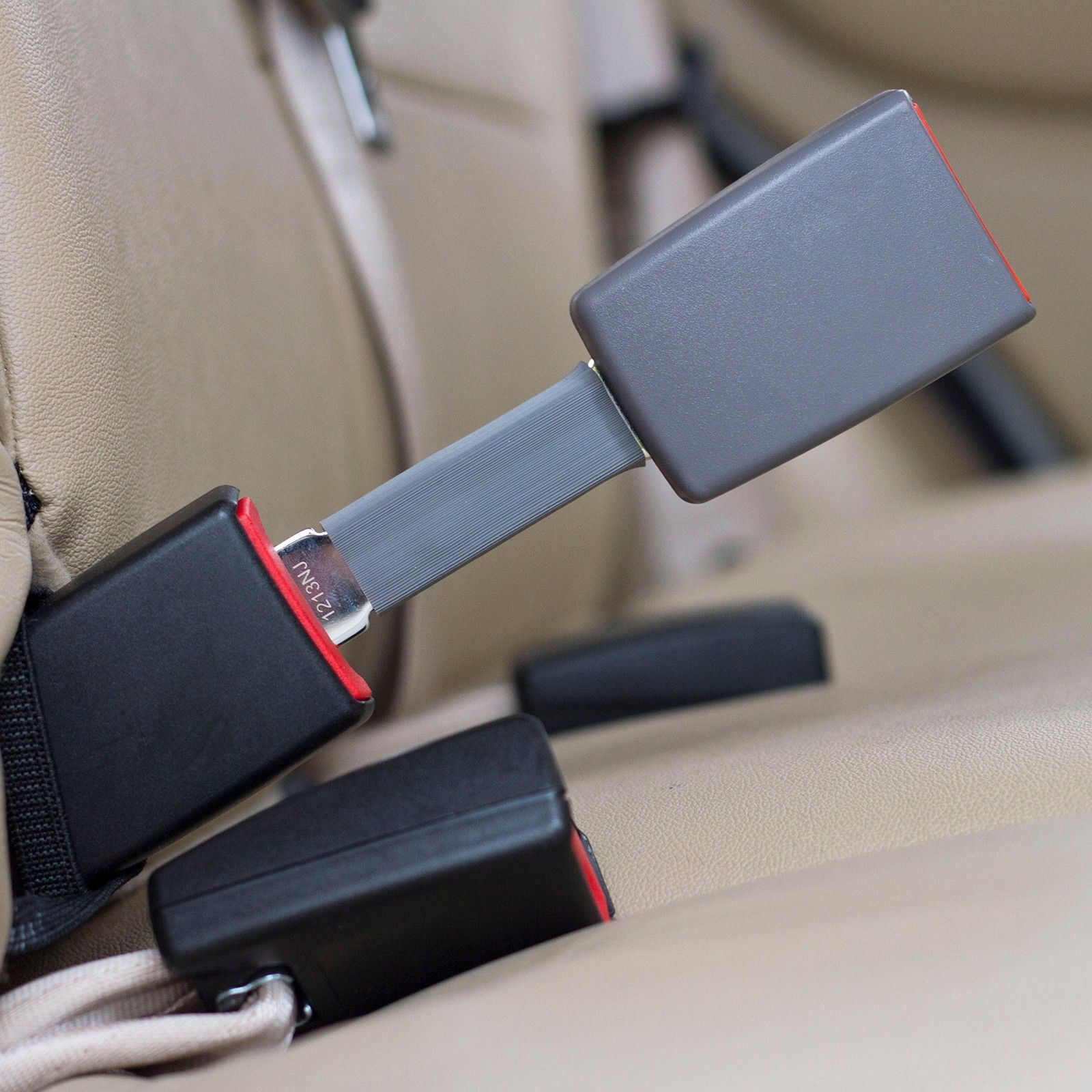 """Buick Rendezvous Seat Belt Extension Adds 5/"""" Rigid E4 Safety Certified Black"""