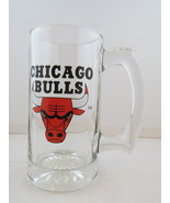 Chicago Bulls Beer Mug - Made from Glass - Silk Screen Graphic  - $39.00