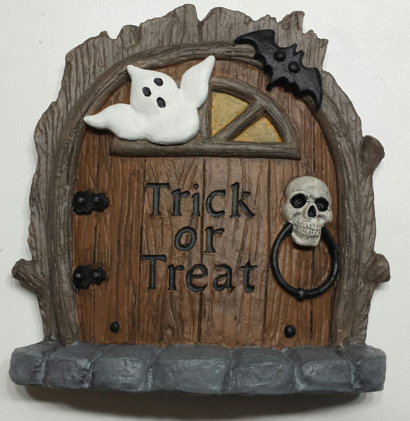 Halloween Fairy door, mouse door, Gnome door, Halloween decoration