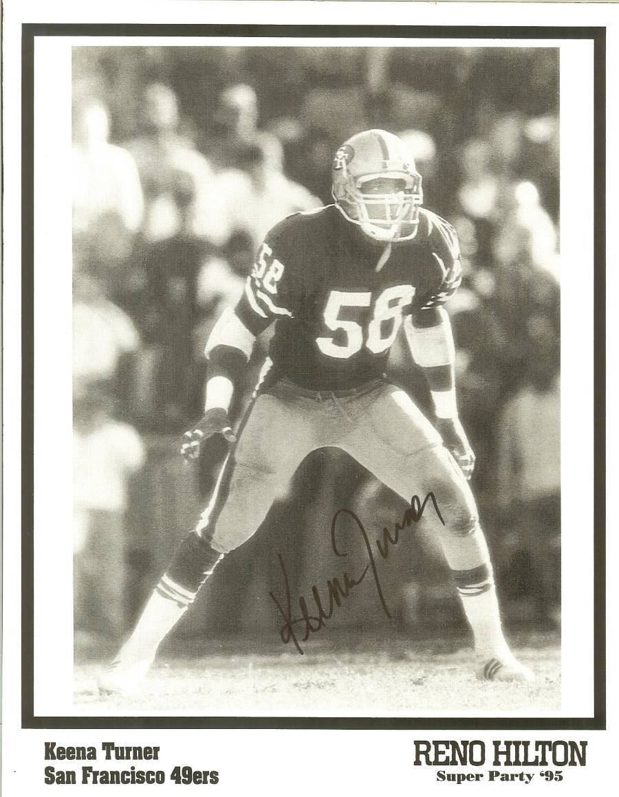 Primary image for keena turner san francisco 49ers autograph super bowl