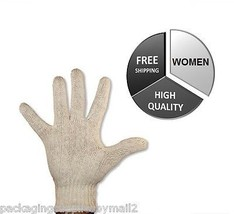String Knit Poly/Cotton Gloves Industrial Grade for Women's 12 Pairs - $11.53