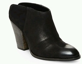 Steve Madden Hilltop black leather nubuck ankle bootie boots 5.5 NEW - $47.88