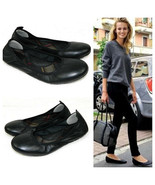 BORN Womens 6 BALLET FLATS Shoes BLACK LEATHER Slip On CAREER CASUAL     R - $27.61