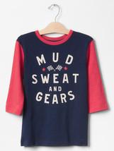 Gap Kids Boy Tee Shirt 8 10 12 14 16 Navy Red Colorblock Short Sleeve Cr... - $14.95