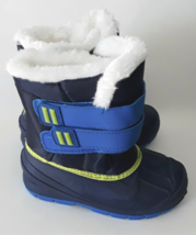 Cat & Jack Toddler Boys Blue Lev Faux Fur Thermolite Insulted Winter Snow Boots image 3