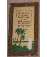Vintage Buzza Motto Print Palm Tree Thermometer - $55.55