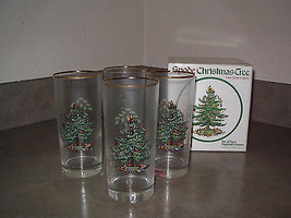 Spode CHRISTMAS TREE Set 8 Double Old Fashioneds and 4 Highballs Original Boxes - $89.99