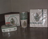 SPODE Christmas Tree CARD BOX w/Lid  Made in England  Cups and Napkins Hallmark