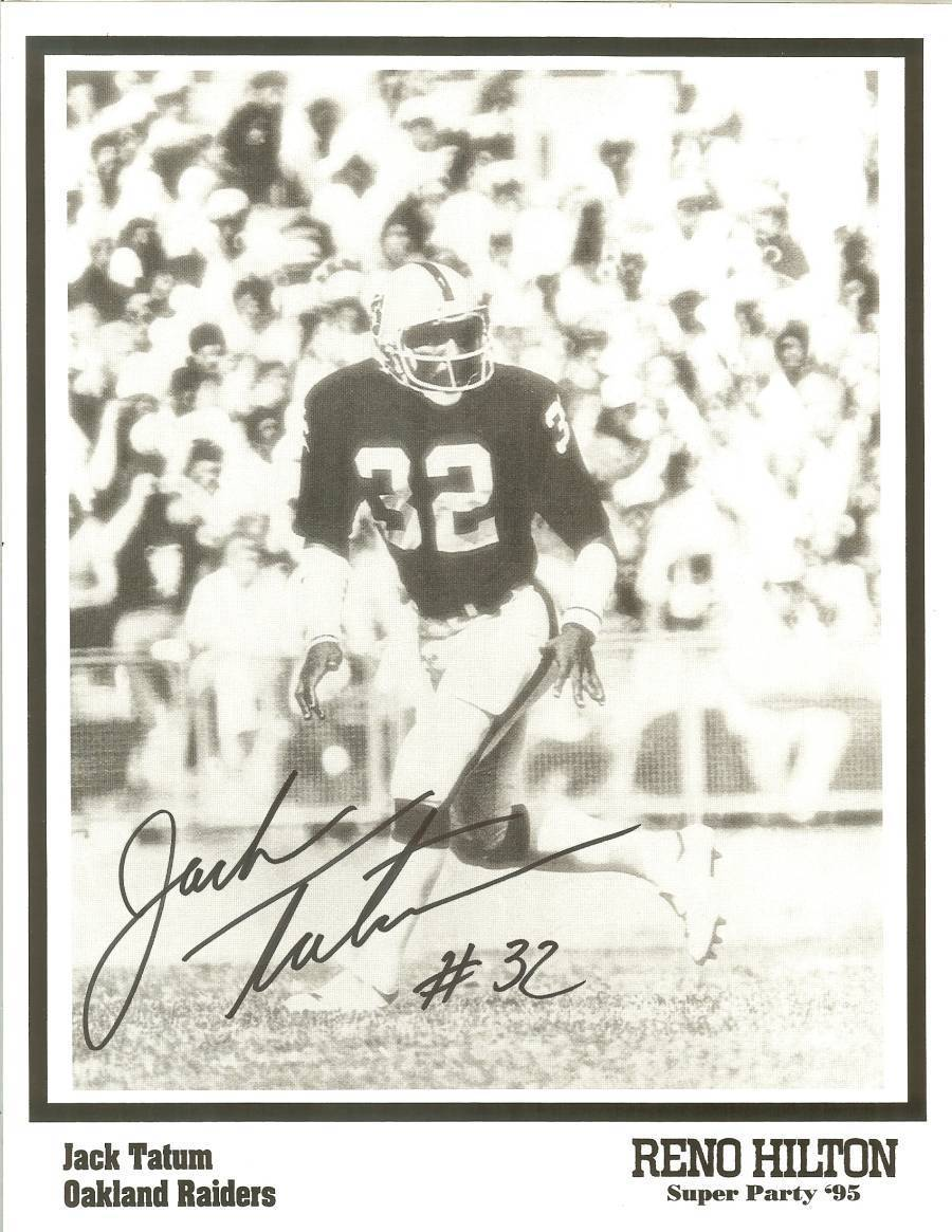 Primary image for jack tatum oakland raiders autograph super bowl party reno nv NFL